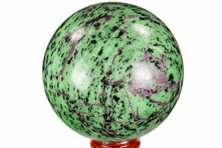 "3.1"" Polished Ruby Zoisite Sphere - Tanzania For Sale, #112514"