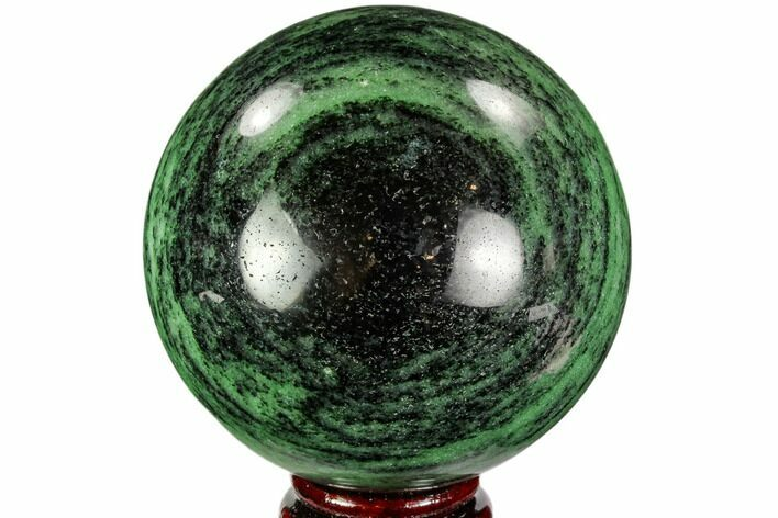 "3.5"" Polished Ruby Zoisite Sphere - Tanzania"