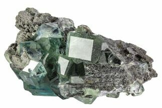 "3.9"" Cubic, Green Fluorite (Dodecahedral Edges) - China For Sale, #112400"