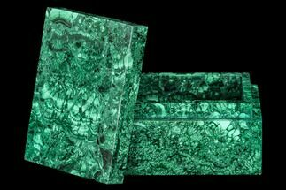 "Buy 4.4"" Wide Malachite Jewelry Box - Congo - #113449"