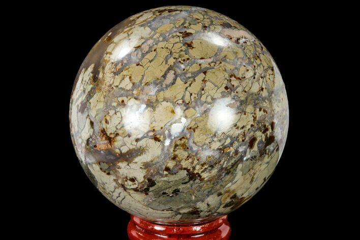"2.4"" Polished Ibis Jasper Sphere - Madagascar"