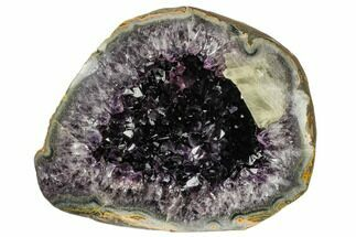 "Buy 11.9"" Top Quality Amethyst Geode with Calcite - Uruguay - #113878"