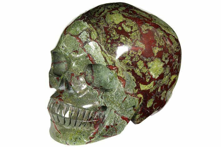 "Huge, 8.1"" Polished Dragon's Blood Jasper Skull - South Africa"