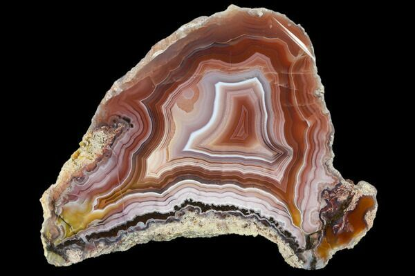 A banded Laguna Agate from Ojo Laguna, Mexico