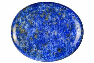 "2"" Polished Lapis Lazuli Worry Stone  For Sale, #115370"