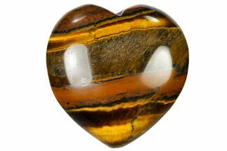 "1.6"" Polished Tiger Iron Heart For Sale, #115397"