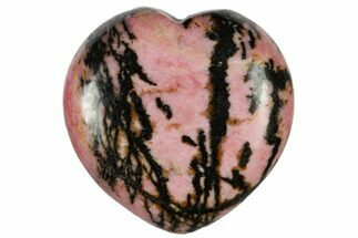 "1.4"" Polished Rhodonite Heart For Sale, #115460"