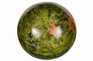 ".9"" Polished Unakite Sphere For Sale, #115463"