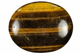 "2.9"" Polished Tiger's Eye Palm Stone - South Africa For Sale, #115553"