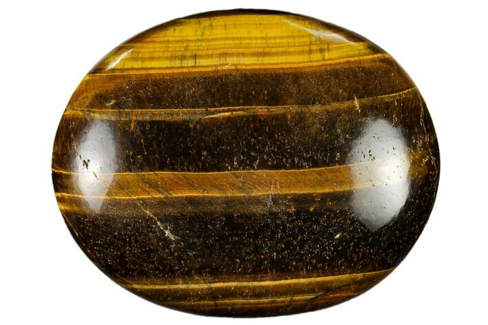 "2.9"" Polished Tiger's Eye Palm Stone - South Africa"