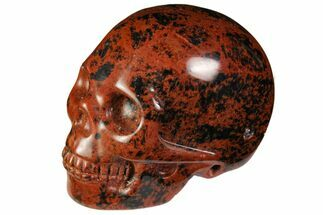 "2"" Realistic, Polished Mahogany Obsidian Skull For Sale, #116312"