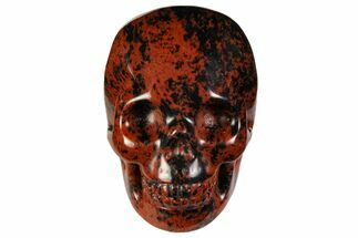 "2"" Realistic, Polished Mahogany Obsidian Skull For Sale, #116318"