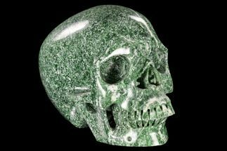"7"" Realistic, Polished Hamine Jade Skull - India For Sale, #116390"