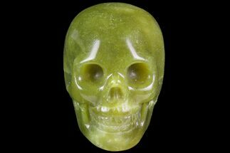 "2"" Realistic, Polished Jade (Nephrite) Skull For Sale, #116435"