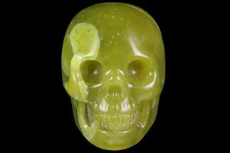 "2"" Realistic, Polished Jade (Nephrite) Skull For Sale, #116438"