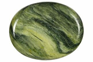 "Buy 1.8"" Polished Green Hair Jasper Worry Stone  - #116617"