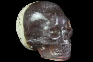 "Buy 2"" Realistic, Carved, Purple Fluorite Skull  - #116473"