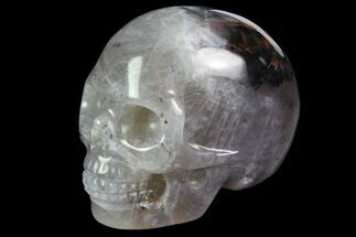 "2"" Realistic, Carved, Purple Fluorite Skull  For Sale, #116477"
