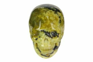 "Buy 2"" Realistic, Polished ""Yellow Turquoise"" Jasper Skull - #116536"