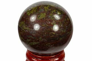"1.6"" Polished Dragon's Blood Jasper Sphere - Australia For Sale, #116102"