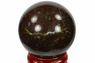 "1.6"" Polished Dragon's Blood Jasper Sphere - Australia For Sale, #116105"