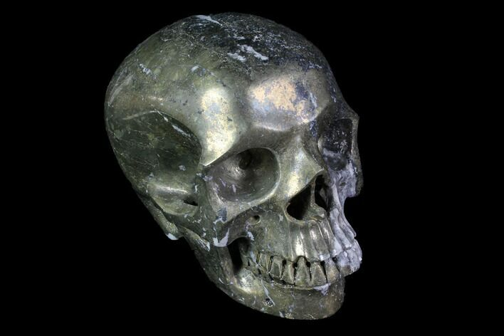 "5"" Realistic, Carved and Polished Pyrite Skull"