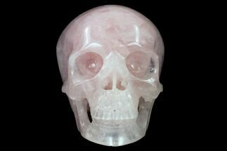 "5"" Polished Brazilian Rose Quartz Crystal Skull For Sale, #116696"