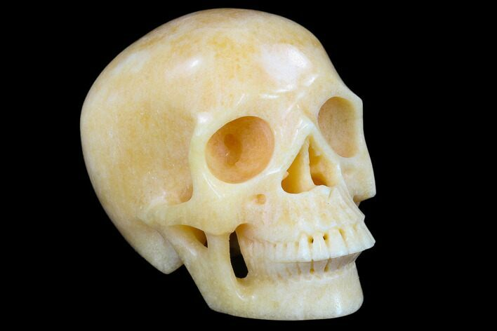 "5"" Realistic, Polished Yellow Aventurine Skull"