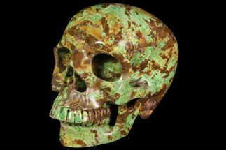 "Buy 4.9"" Realistic, Polished Autumn Jasper Skull  - #116692"