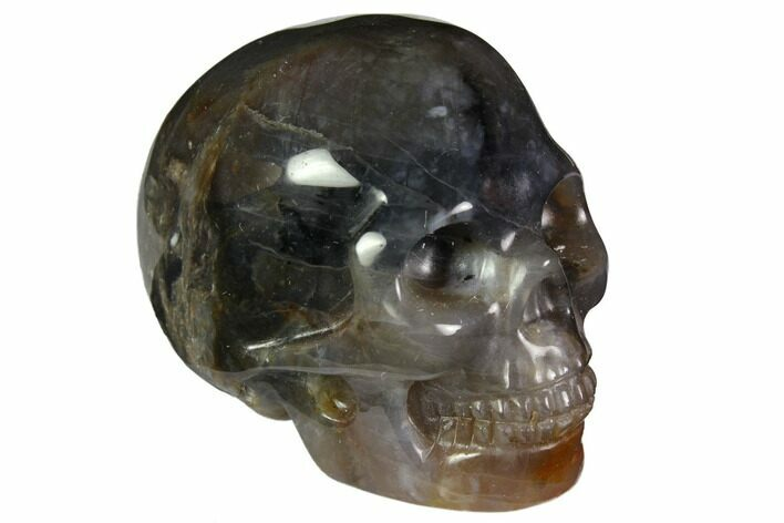 "2"" Realistic, Polished Agate Skull"