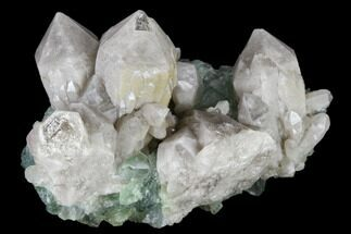 "2.6"" Grey Pineapple Quartz Crystals on Green Fluorite - China For Sale, #115496"