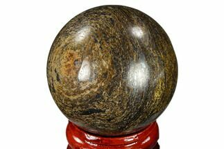 "1.6"" Polished Bronzite Sphere - Brazil For Sale, #115979"