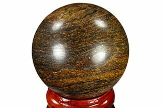 "1.6"" Polished Bronzite Sphere - Brazil For Sale, #115982"
