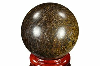 "1.6"" Polished Bronzite Sphere - Brazil For Sale, #115991"
