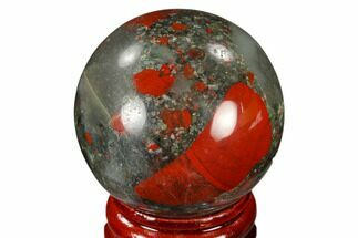 "Buy 1.55"" Polished Bloodstone (Heliotrope) Sphere - Africa - #116194"