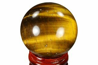 "1.6"" Polished Tiger's Eye Sphere - South Africa For Sale, #116060"
