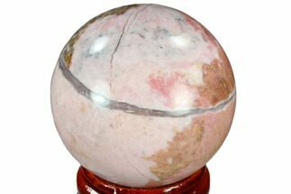 "Buy 1.55"" Polished Rhodonite Sphere - India - #116164"