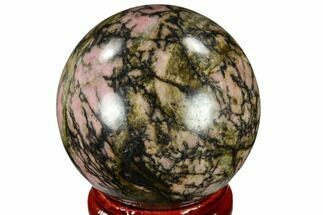 "Buy 1.6"" Polished Rhodonite Sphere - India - #116167"