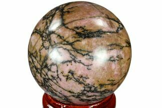 "1.6"" Polished Rhodonite Sphere - India For Sale, #116168"