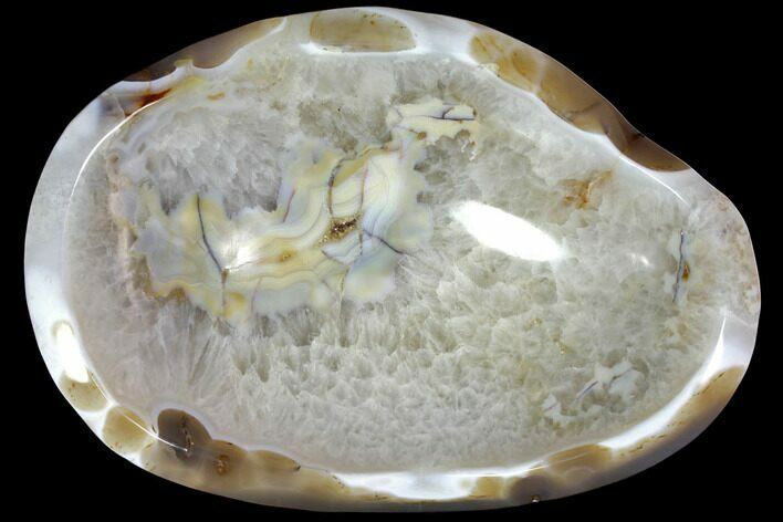 "11.6"" Polished Quartz and Agate Bowl - Madagascar"
