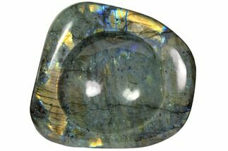 "6.8"" Polished, Flashy Labradorite Dish - Madagascar For Sale, #117257"
