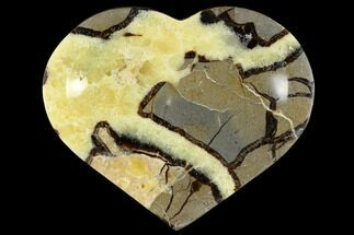 "Buy 6.3"" Polished, Heart-Shaped Septarian Dish  - #117301"