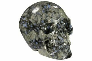 "Buy 4.5"" Carved, Que Sera Stone Skull - #118099"