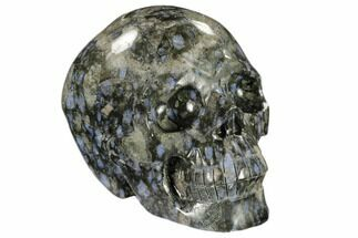 "5.4"" Carved Que Sera Stone Skull - Brazil For Sale, #118100"