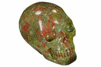 "Buy 2.4"" Carved, Unakite Skull - South Africa - #118102"