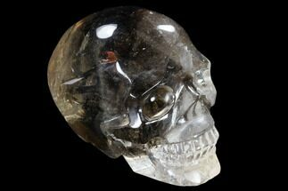 "Buy 2.4"" Carved, Smoky Quartz Crystal Skull - Madagascar - #118105"