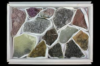 Wholesale Lot: Druzy Amethyst/Quartz Clusters (13 Pieces) For Sale, #118298