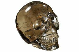"Buy 4.8"" Carved, Smoky Quartz Crystal Skull - Madagascar - #118111"