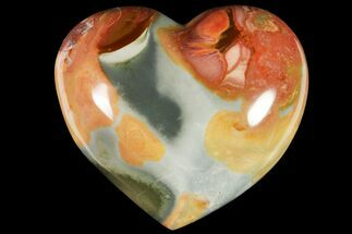 "3.8"" Wide, Polychrome Jasper Heart - Madagascar For Sale, #118649"