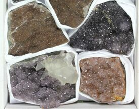 Buy Wholesale Lot: Druzy Amethyst/Quartz Clusters (9 Pieces) - #119323